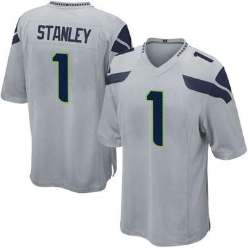 Youth Nike Seattle Seahawks Jayson Stanley Gray Alternate Jersey - Game