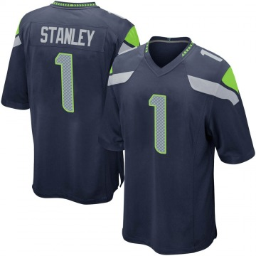Youth Nike Seattle Seahawks Jayson Stanley Navy Team Color Jersey - Game