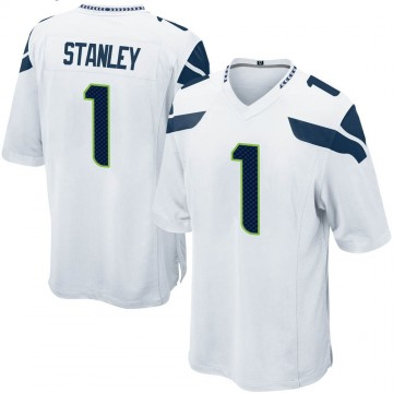 Youth Nike Seattle Seahawks Jayson Stanley White Jersey - Game