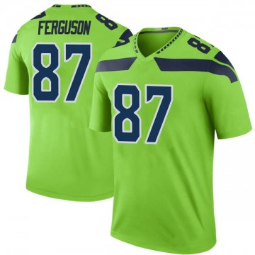Youth Nike Seattle Seahawks Jazz Ferguson Green Color Rush Neon Jersey - Legend