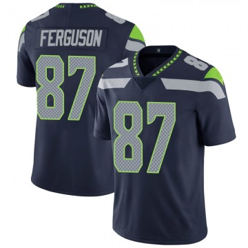 Youth Nike Seattle Seahawks Jazz Ferguson Navy 100th Vapor Jersey - Limited