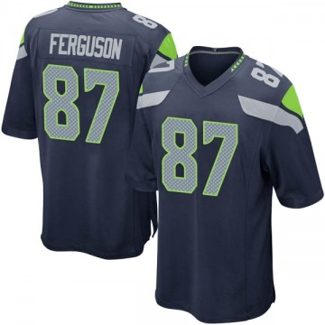 Youth Nike Seattle Seahawks Jazz Ferguson Navy Team Color Jersey - Game
