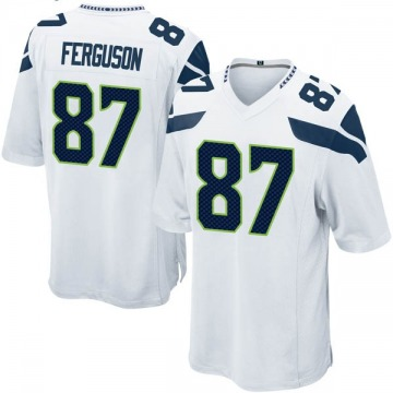 Youth Nike Seattle Seahawks Jazz Ferguson White Jersey - Game