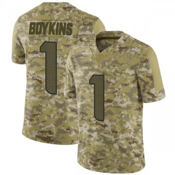 Youth Nike Seattle Seahawks Jeremy Boykins Camo 2018 Salute to Service Jersey - Limited