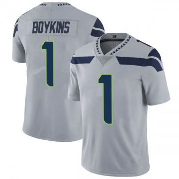 Youth Nike Seattle Seahawks Jeremy Boykins Gray Alternate Vapor Untouchable Jersey - Limited