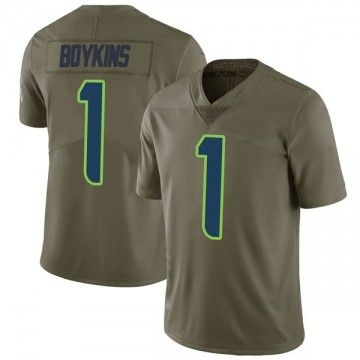 Youth Nike Seattle Seahawks Jeremy Boykins Green 2017 Salute to Service Jersey - Limited