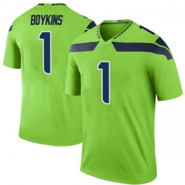 Youth Nike Seattle Seahawks Jeremy Boykins Green Color Rush Neon Jersey - Legend