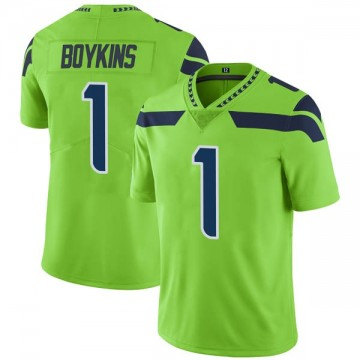 Youth Nike Seattle Seahawks Jeremy Boykins Green Color Rush Neon Jersey - Limited