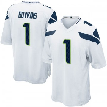 Youth Nike Seattle Seahawks Jeremy Boykins White Jersey - Game