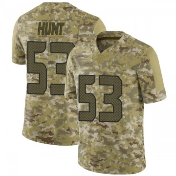 Youth Nike Seattle Seahawks Joey Hunt Camo 2018 Salute to Service Jersey - Limited