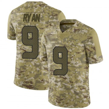 Youth Nike Seattle Seahawks Jon Ryan Camo 2018 Salute to Service Jersey - Limited