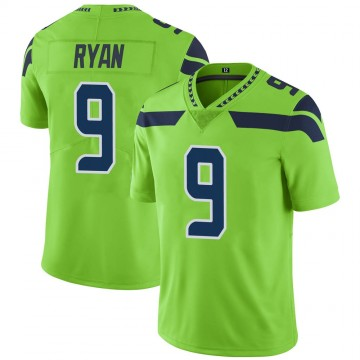 Youth Nike Seattle Seahawks Jon Ryan Green Color Rush Neon Jersey - Limited