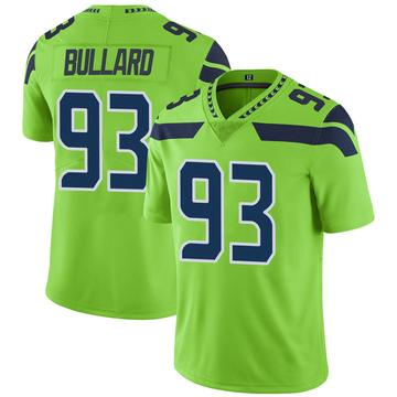 Youth Seattle Seahawks Jonathan Bullard Green Color Rush Neon Jersey - Limited