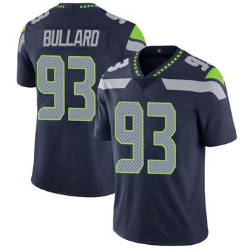 Youth Nike Seattle Seahawks Jonathan Bullard Navy 100th Vapor Jersey - Limited