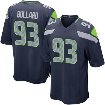 Youth Nike Seattle Seahawks Jonathan Bullard Navy Team Color Jersey - Game