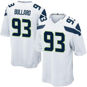 Youth Nike Seattle Seahawks Jonathan Bullard White Jersey - Game