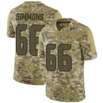 Youth Nike Seattle Seahawks Jordan Simmons Camo 2018 Salute to Service Jersey - Limited