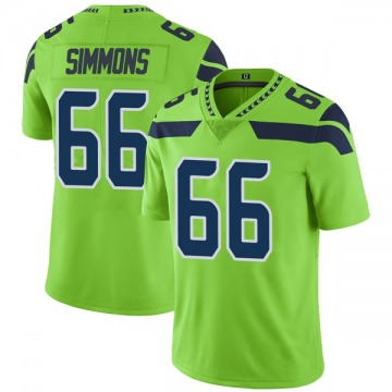 Youth Nike Seattle Seahawks Jordan Simmons Green Color Rush Neon Jersey - Limited