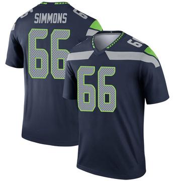 Youth Nike Seattle Seahawks Jordan Simmons Navy Jersey - Legend