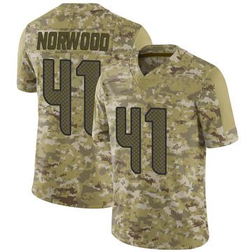 Youth Nike Seattle Seahawks Josh Norwood Camo 2018 Salute to Service Jersey - Limited