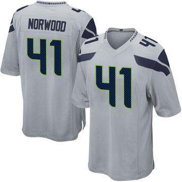 Youth Nike Seattle Seahawks Josh Norwood Gray Alternate Jersey - Game