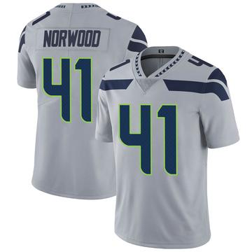 Youth Nike Seattle Seahawks Josh Norwood Gray Alternate Vapor Untouchable Jersey - Limited