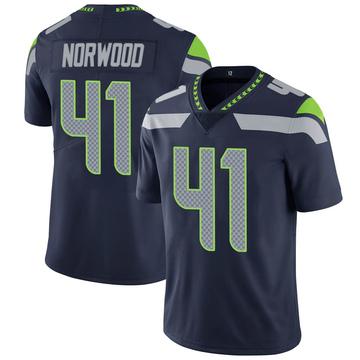 Youth Nike Seattle Seahawks Josh Norwood Navy 100th Vapor Jersey - Limited