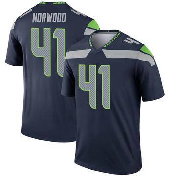 Youth Nike Seattle Seahawks Josh Norwood Navy Jersey - Legend