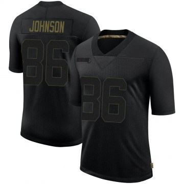 Youth Nike Seattle Seahawks Justin Johnson Black 2020 Salute To Service Jersey - Limited