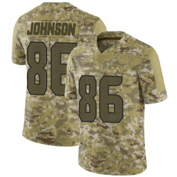 Youth Nike Seattle Seahawks Justin Johnson Camo 2018 Salute to Service Jersey - Limited