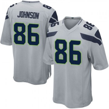 Youth Nike Seattle Seahawks Justin Johnson Gray Alternate Jersey - Game