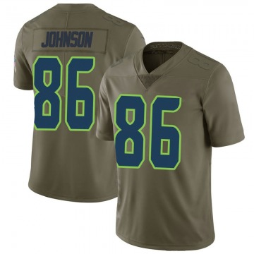 Youth Nike Seattle Seahawks Justin Johnson Green 2017 Salute to Service Jersey - Limited