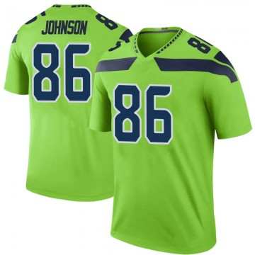 Youth Nike Seattle Seahawks Justin Johnson Green Color Rush Neon Jersey - Legend