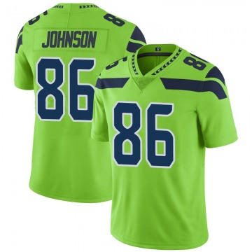 Youth Nike Seattle Seahawks Justin Johnson Green Color Rush Neon Jersey - Limited