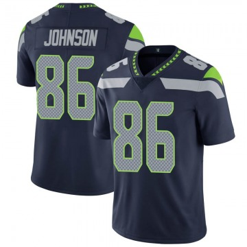 Youth Nike Seattle Seahawks Justin Johnson Navy Team Color Vapor Untouchable Jersey - Limited
