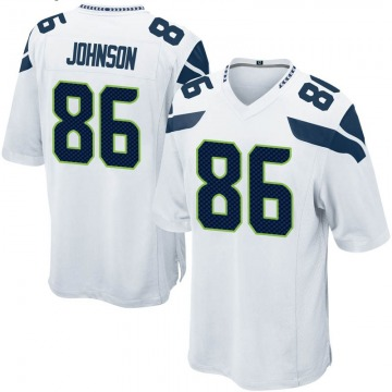 Youth Nike Seattle Seahawks Justin Johnson White Jersey - Game