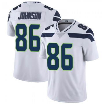 Youth Nike Seattle Seahawks Justin Johnson White Vapor Untouchable Jersey - Limited