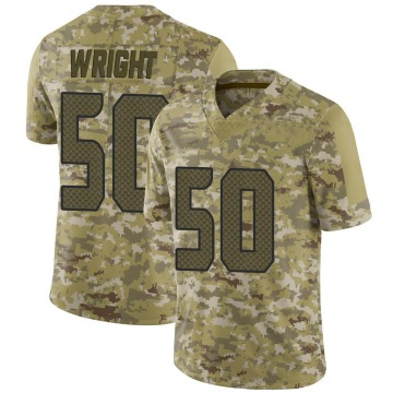 Youth Nike Seattle Seahawks K.J. Wright Camo 2018 Salute to Service Jersey - Limited