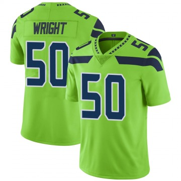 Youth Nike Seattle Seahawks K.J. Wright Green Color Rush Neon Jersey - Limited