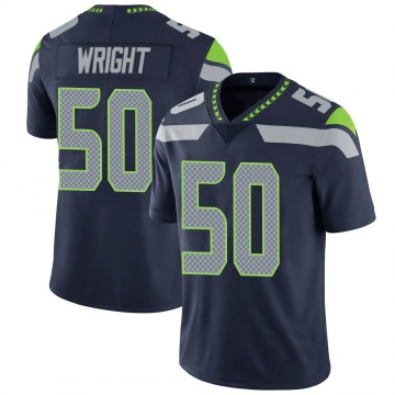 Youth Nike Seattle Seahawks K.J. Wright Navy 100th Vapor Jersey - Limited
