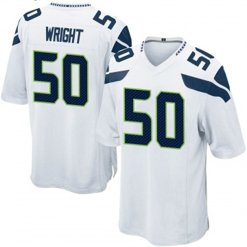 Youth Nike Seattle Seahawks K.J. Wright White Jersey - Game
