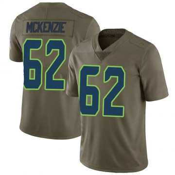 Youth Nike Seattle Seahawks Kahlil McKenzie Green 2017 Salute to Service Jersey - Limited