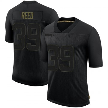 Youth Nike Seattle Seahawks Kalan Reed Black 2020 Salute To Service Jersey - Limited