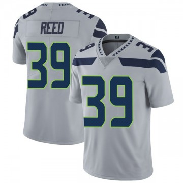 Youth Nike Seattle Seahawks Kalan Reed Gray Alternate Vapor Untouchable Jersey - Limited