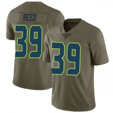 Youth Nike Seattle Seahawks Kalan Reed Green 2017 Salute to Service Jersey - Limited