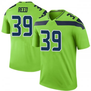 Youth Nike Seattle Seahawks Kalan Reed Green Color Rush Neon Jersey - Legend