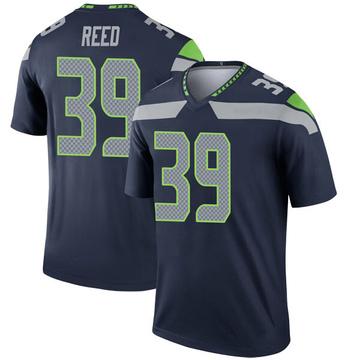 Youth Nike Seattle Seahawks Kalan Reed Navy Jersey - Legend