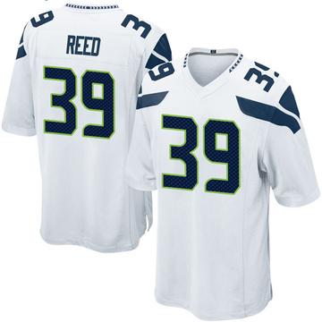 Youth Nike Seattle Seahawks Kalan Reed White Jersey - Game