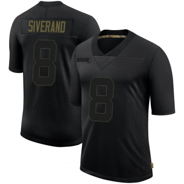 Youth Nike Seattle Seahawks Kemah Siverand Black 2020 Salute To Service Jersey - Limited