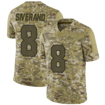 Youth Nike Seattle Seahawks Kemah Siverand Camo 2018 Salute to Service Jersey - Limited